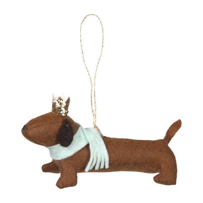 Felt Sausage Dog Ornament
