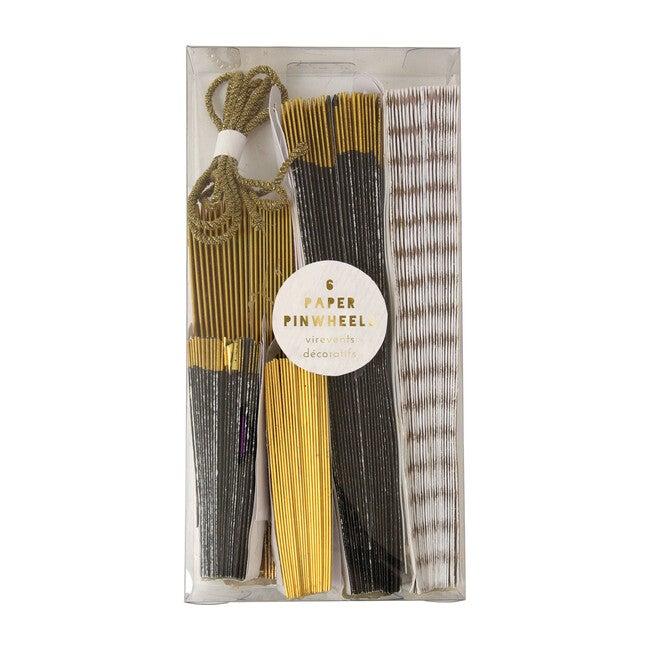 Black & Gold Pinwheels