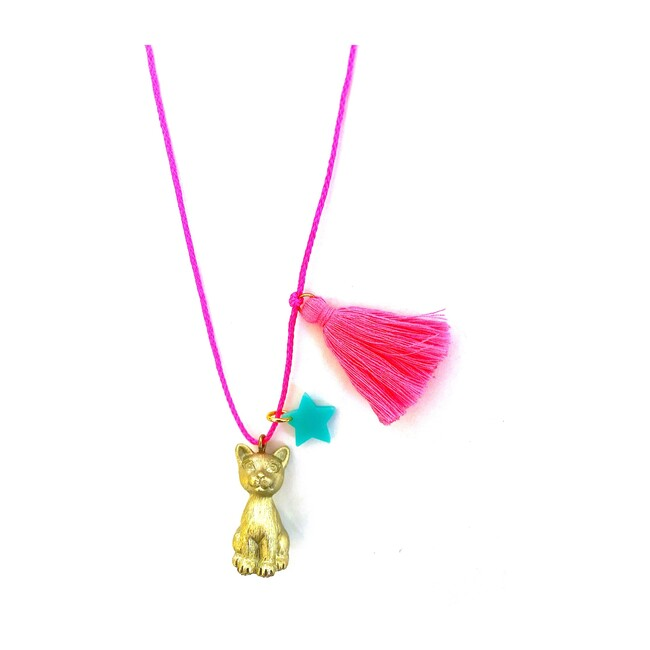 Sawyer the Gold Cat Necklace