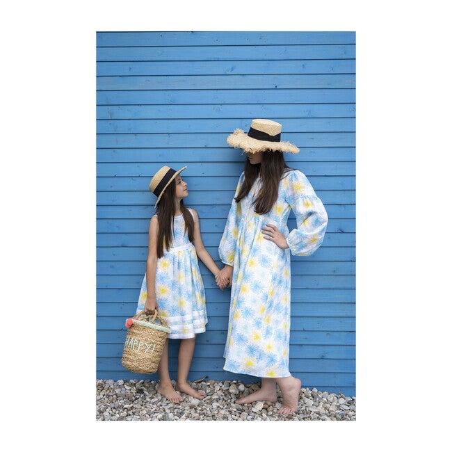 Woman's Pure Linen Fireworks Summer Dress