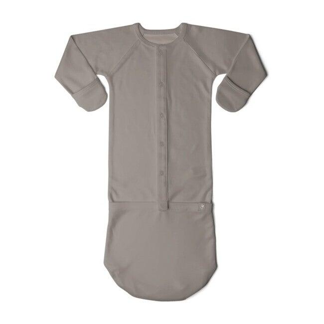Solid Sleeper Gown, Pewter - Sleepbags - 1