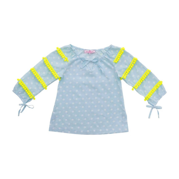 Juliette Cover up Shirt, Baby Blue