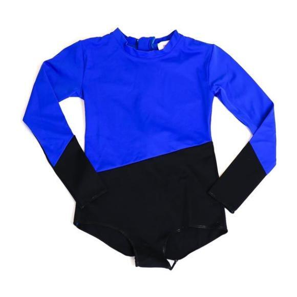 Colorblock Rashguard One Piece, Cobalt Blue