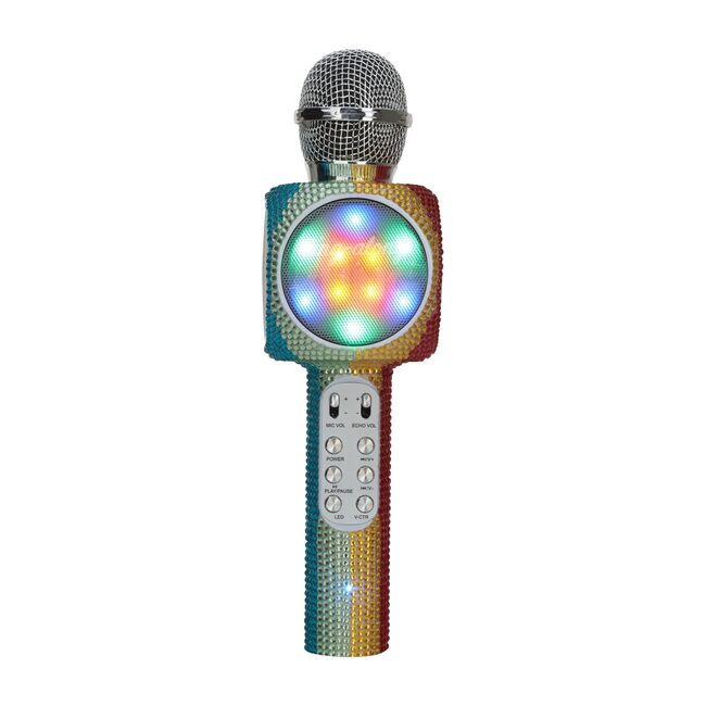 Sing-along Bling Bluetooth Karaoke Microphone, Rainbow Bling