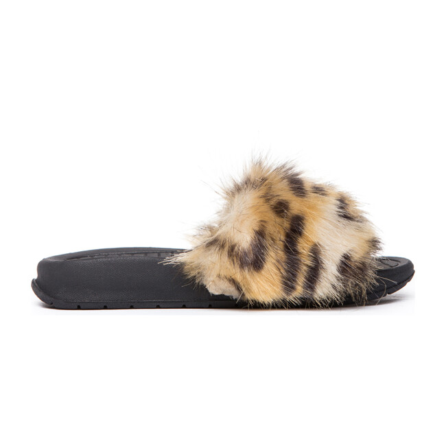 Faux Fur Aston Slide, Leopard