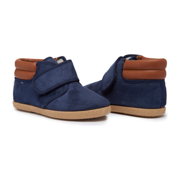 Suede Leather McAlister Booties, Navy
