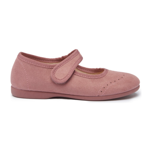 Suede Spectator Mary Janes, Rose