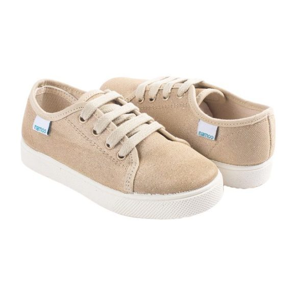 Lace-Up Sneaker, Gold Glitter