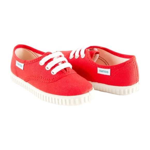 Lace Sneaker, Red
