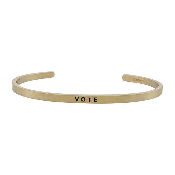 *Exclusive* Women's Vote Bracelet, Gold