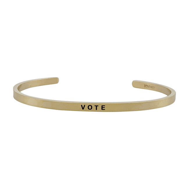 *Exclusive* Women's Vote Bracelet, Gold
