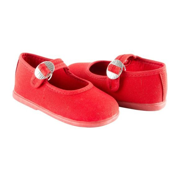Canvas Mary Jane, Red