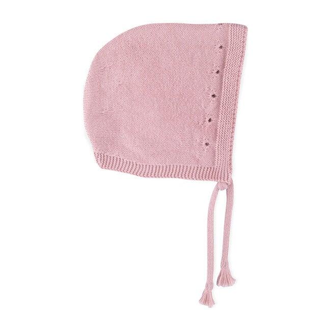Naohi Knitted Beanie, Pink Peony
