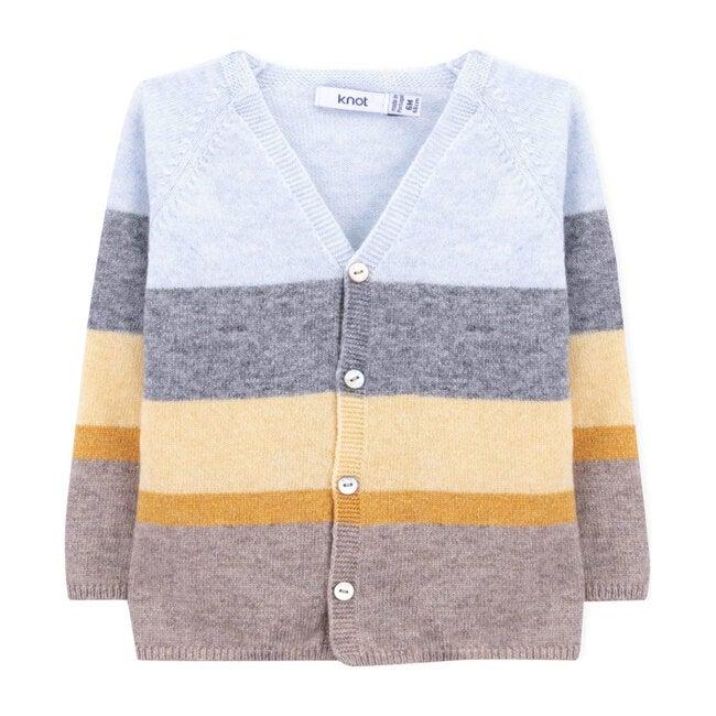 Wataru Knitted Jacket, Koji Stripes