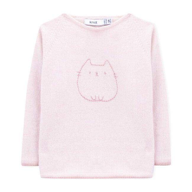 Ayame Knitted Sweater, Peony Pink