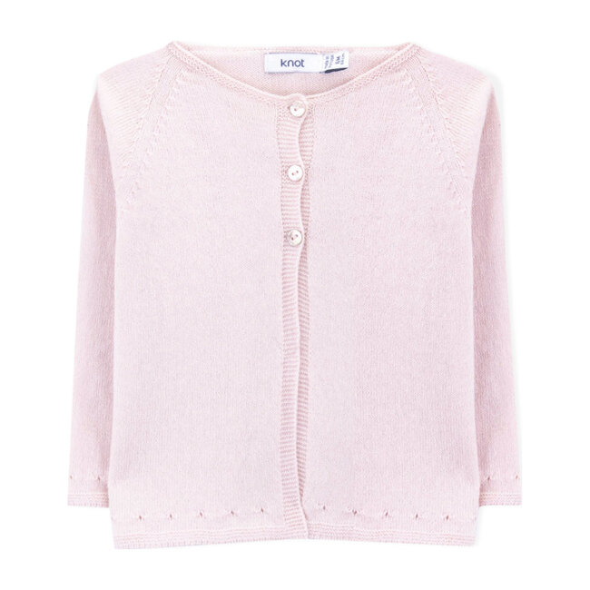 Mio Knitted Cardigan, Pink Peony