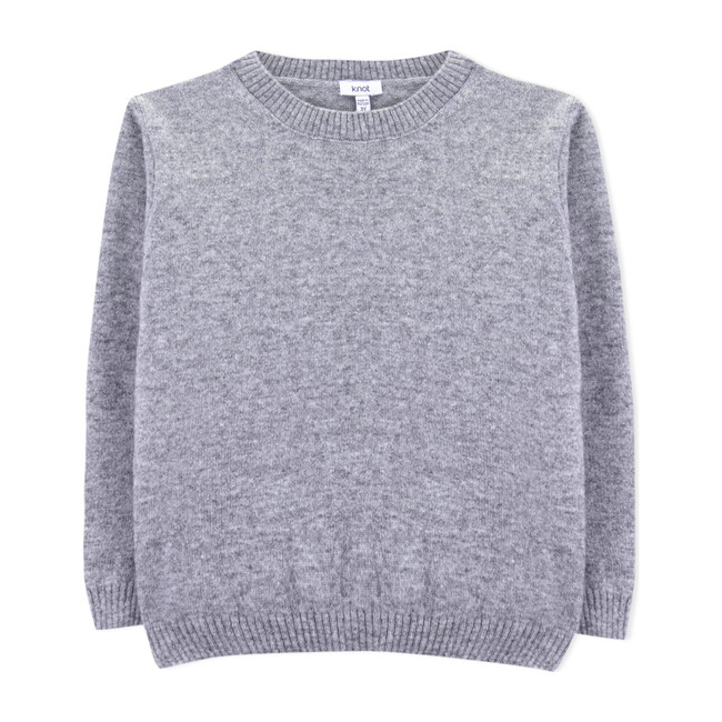 Tadao Knitted Sweater, Grey