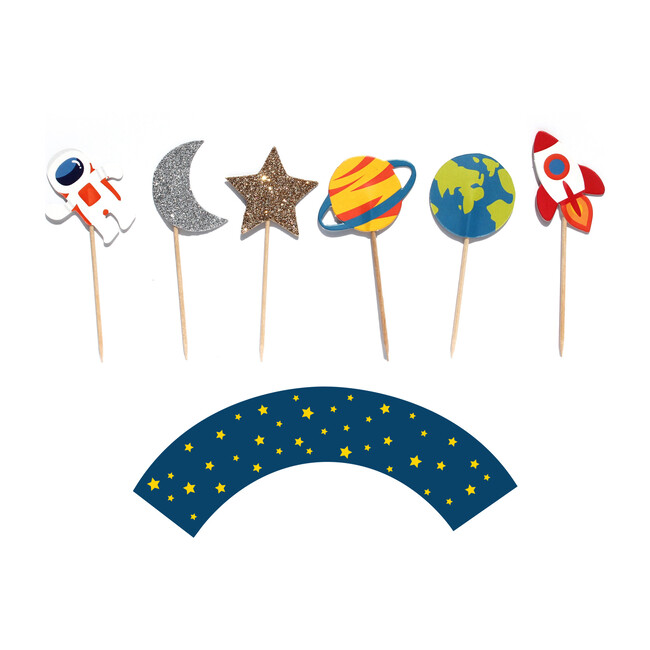 Trip To The Moon Cupcake Toppers