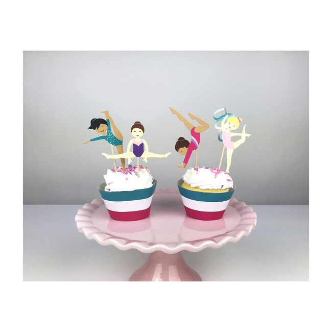 Gymnastics Party Cupcake Toppers