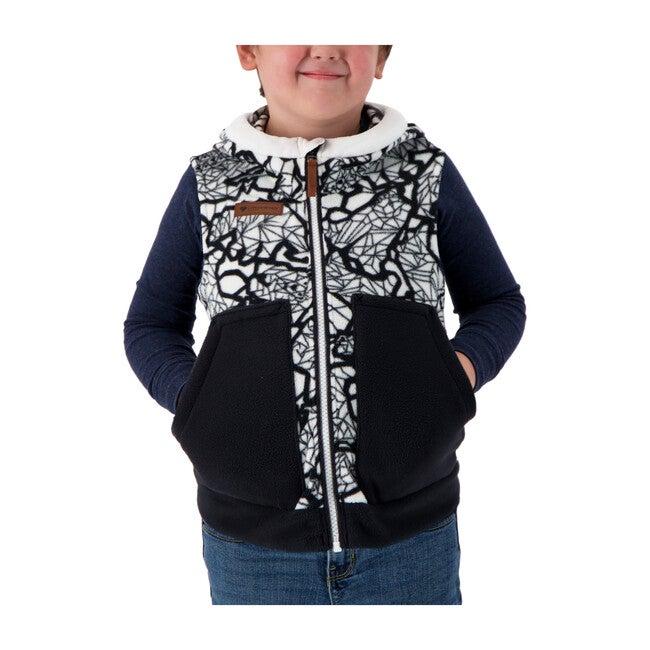Logan Fleece Vest, Kaleido Bear