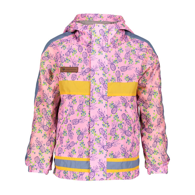 Frankie Shell Jacket, Pink Pineapple