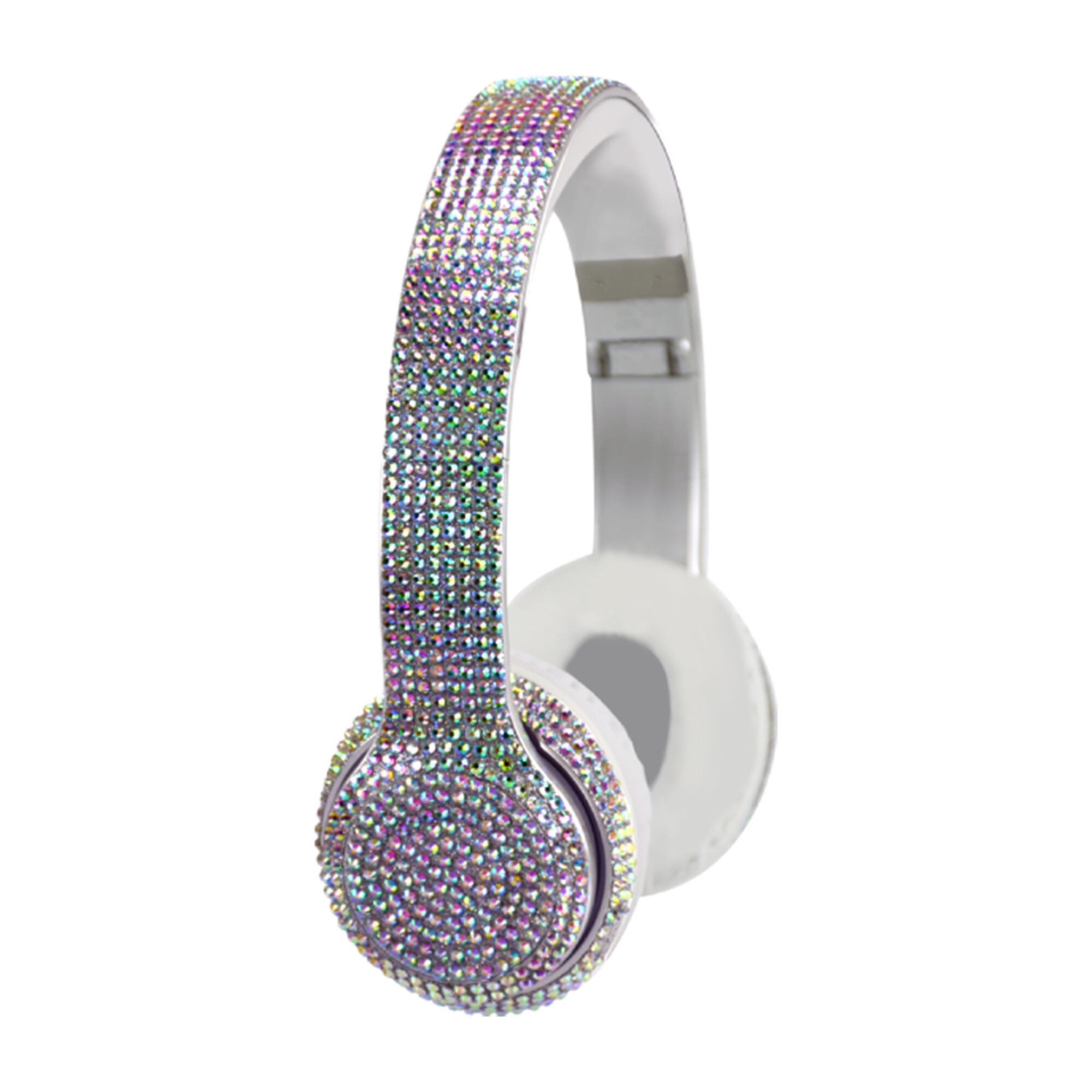 Iridescent Bling Headphones with LED Speakers
