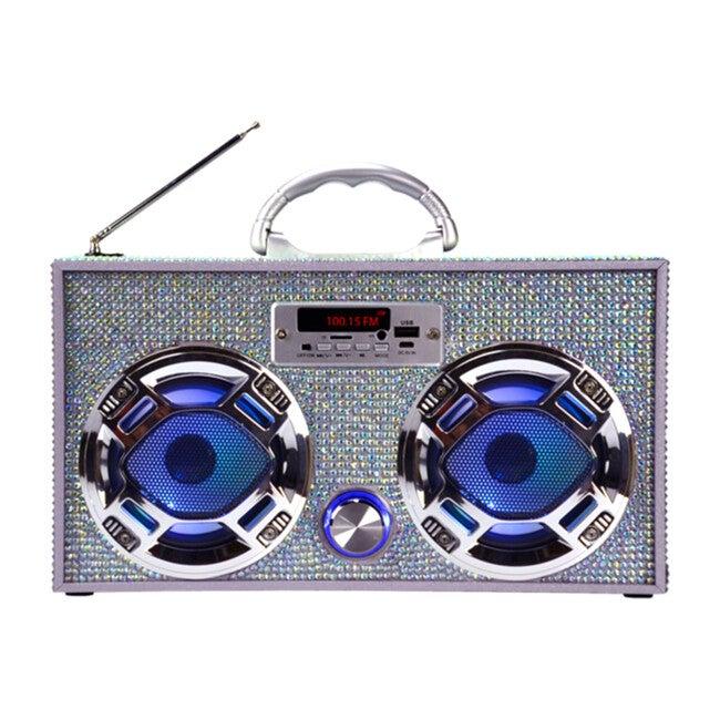Bluetooth Mini Boom Box, Iridescent Bling