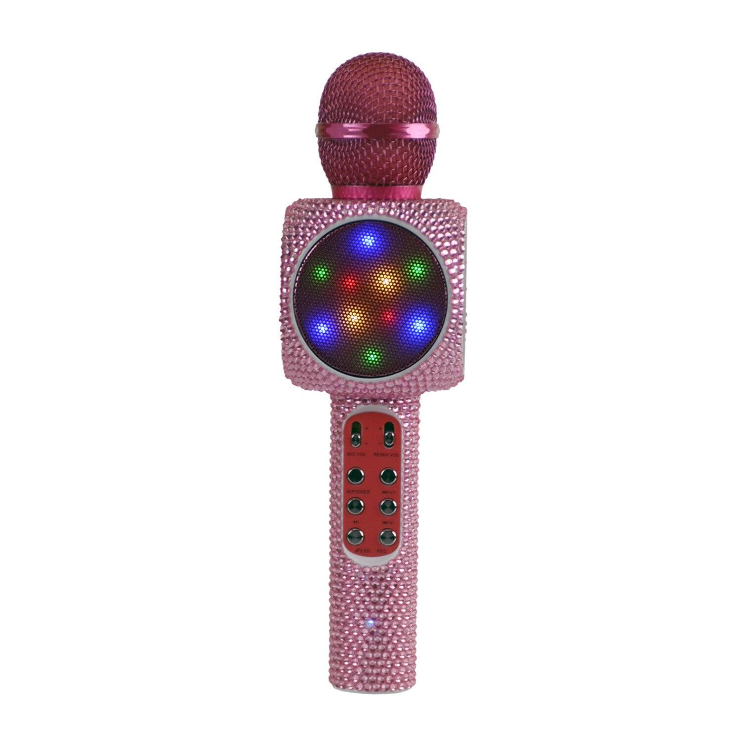 Sing-along Bling  Bluetooth Karaoke Microphone, Pink Bling