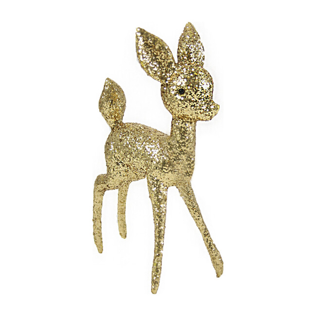 Extra Large Glitter Deer, Gold