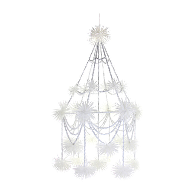 Beaded Pajaki Chandelier, White - Decorations - 1