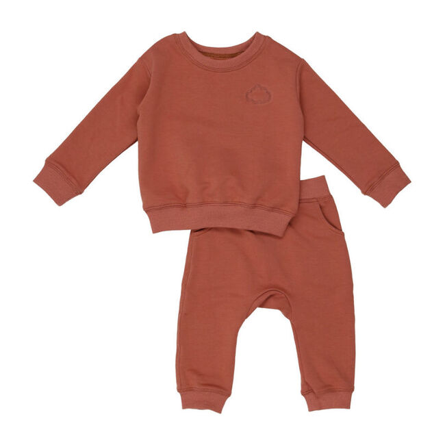 Mini cloud Sweatsuit, Clay - Loungewear - 1