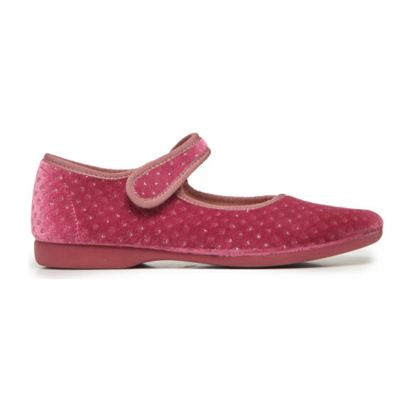 *Exclusive* Velvet Mary Janes, Rose Twinkle - Mary Janes - 1