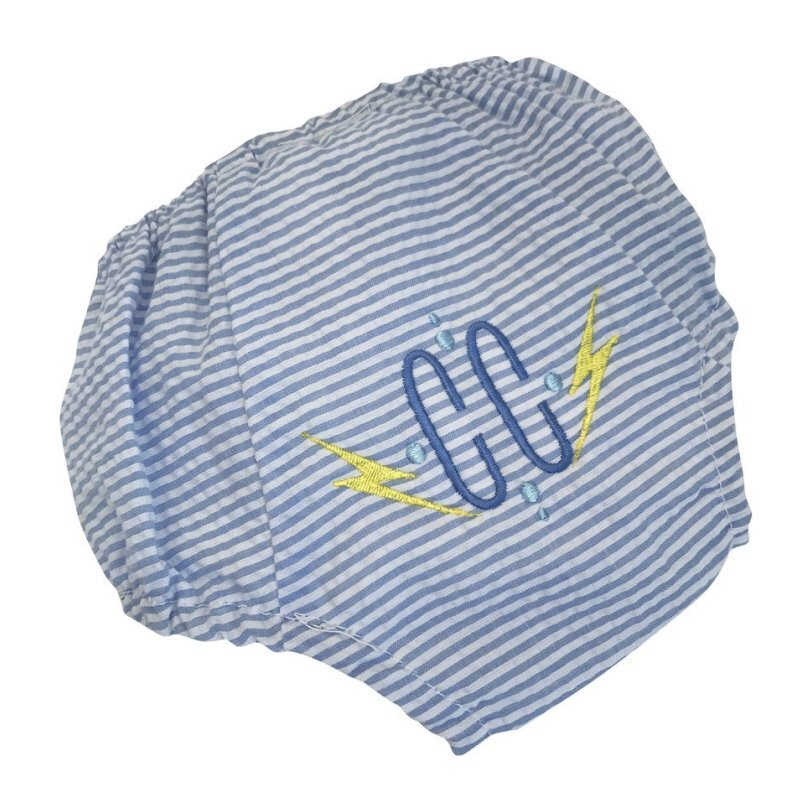 Monogrammable Seersucker Diaper Cover, Blue Stripes