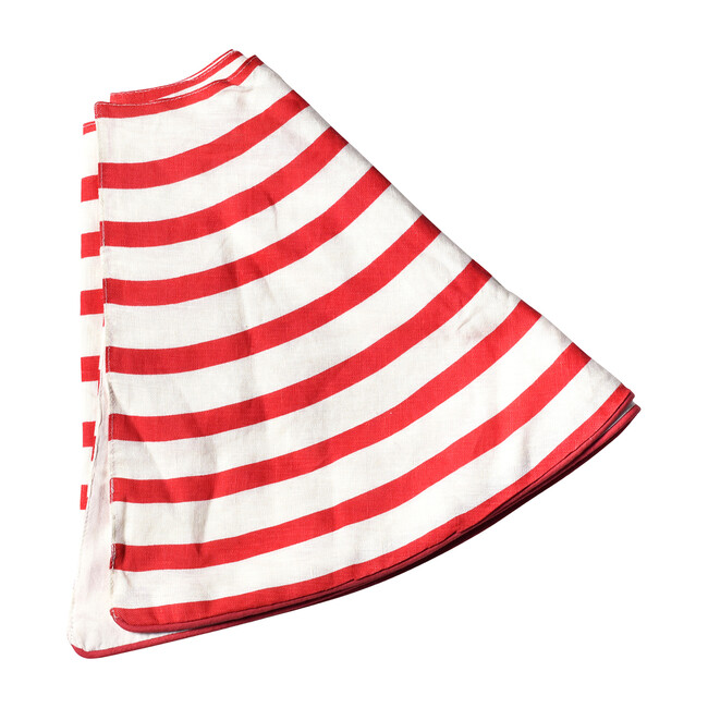 Striped Tree Skirt, Red