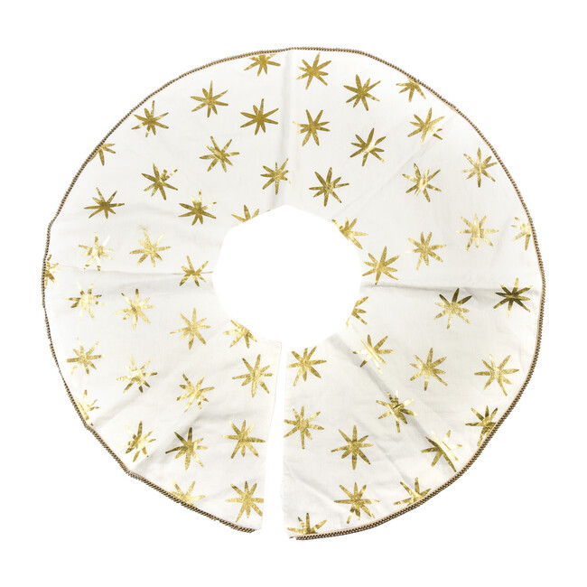 Star Tree Skirt, Gold