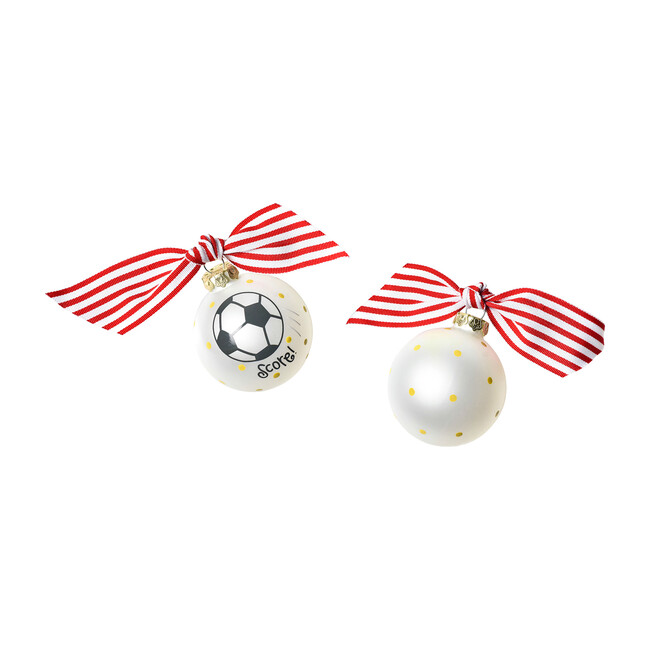 Soccer Glass Ornament