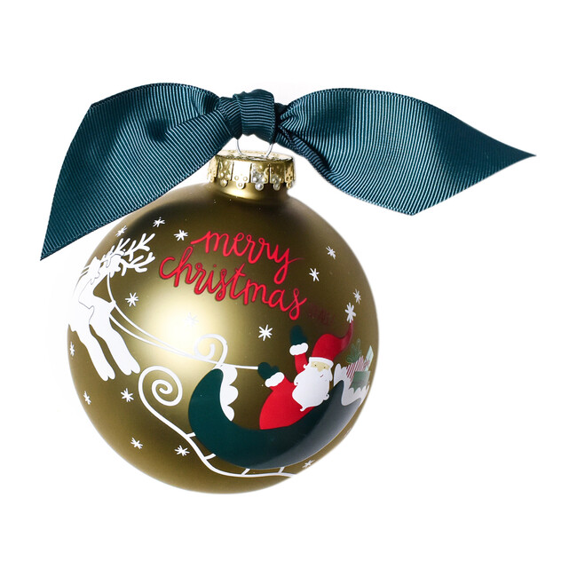 Merry Christmas To All Glass Ornament
