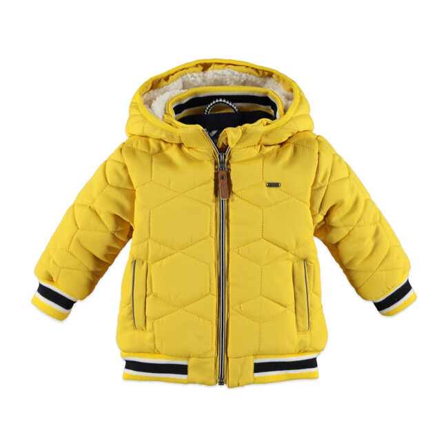 Boys Hooded Parka, Mustard