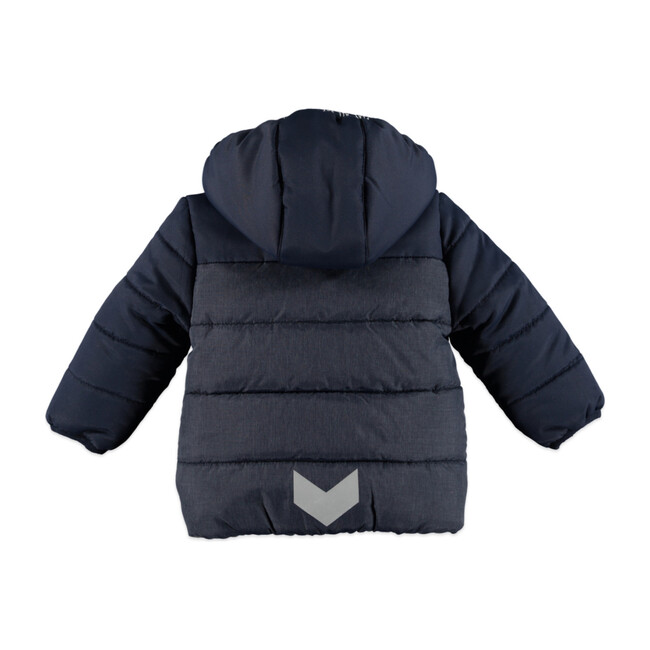 Boys Hooded Parka, Dark Blue