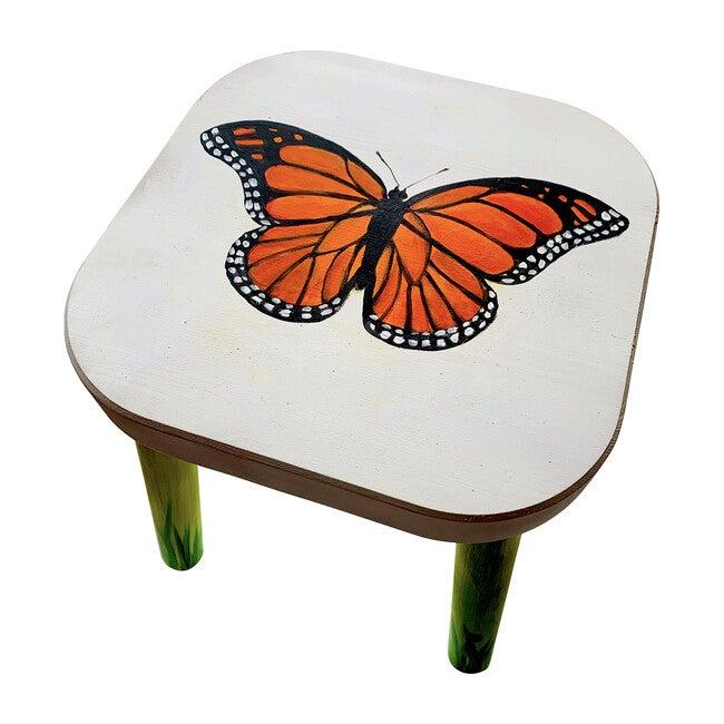 Mallory the Monarch Stool, Orange Multi