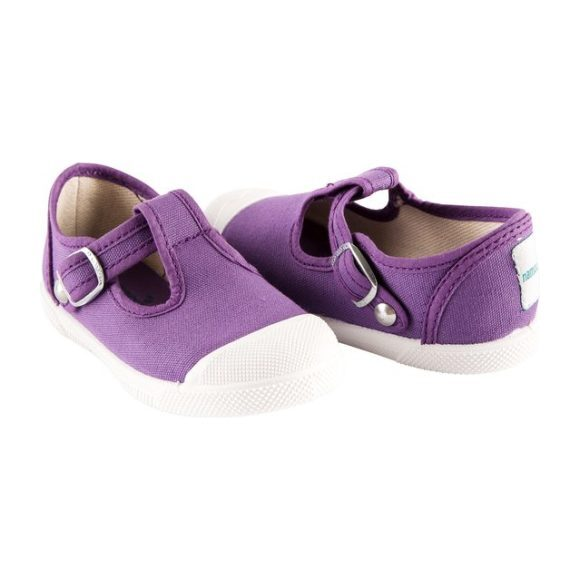 Cap Toe T-Strap, Purple
