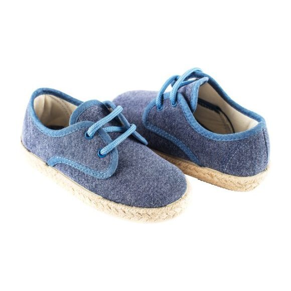 Lace-Up Espadrille, Navy