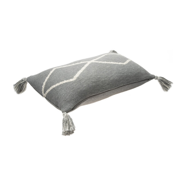 Oasis Knitted Cushion, Grey
