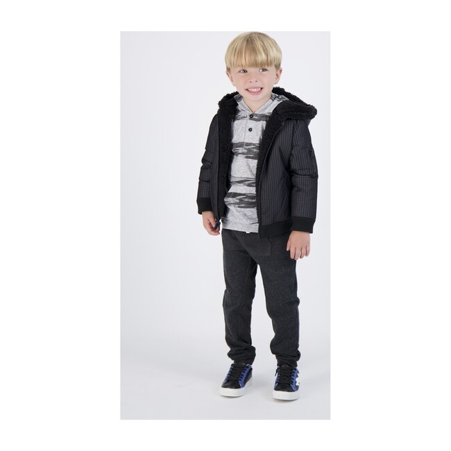 Reversible Jacket, Black Houndstooth