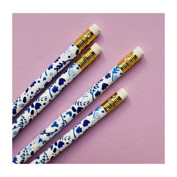 Set of 8 Hydrangea Garden Pencils