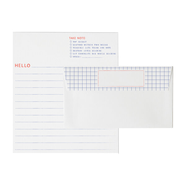Graph Paper Letterhead Set