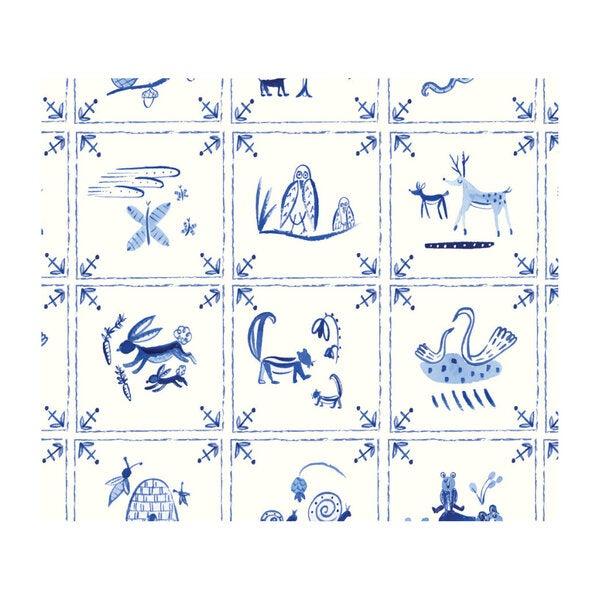 Delft Tiles Gift Wrap Set
