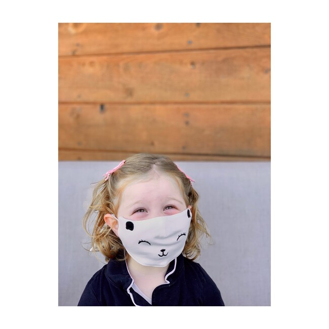 Singular Embroidered Bear Reusable Toddler & Kid Face Mask
