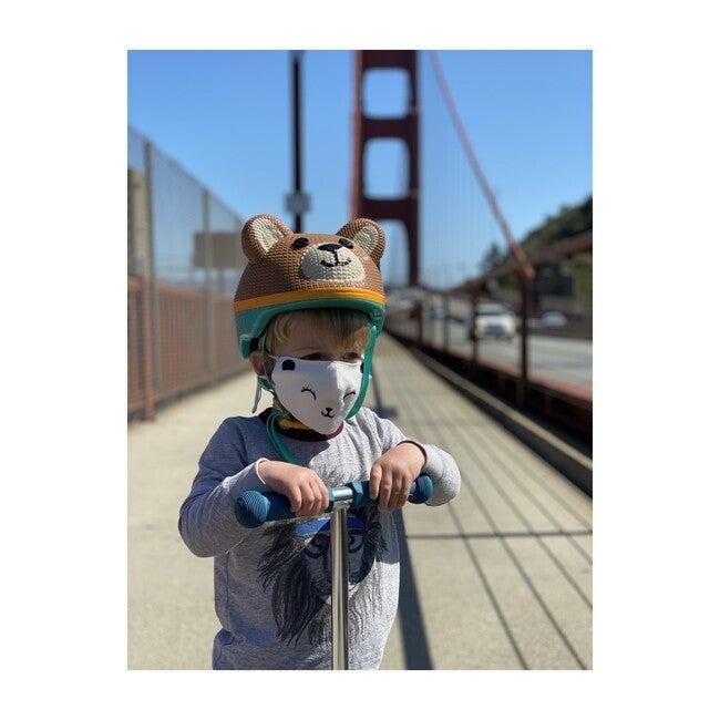 Singular Embroidered Bear Reusable Toddler & Kid Face Mask