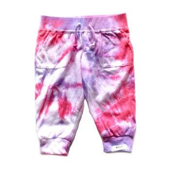 Tie Dye Joggers, Pink & Purple